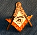 Lapel Pin All Seeing Eye In Sq & C